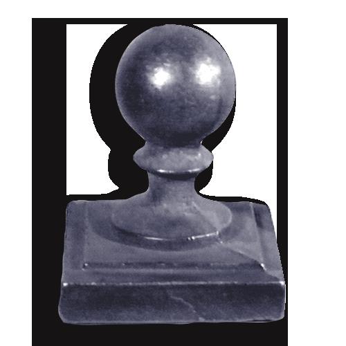 Cast iron newel post ball