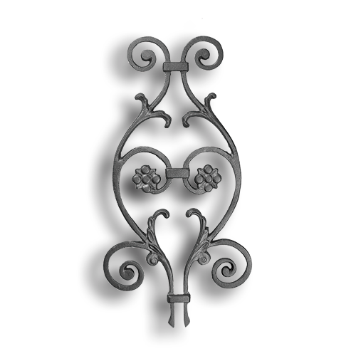 Cast Iron Picket Casting Scroll