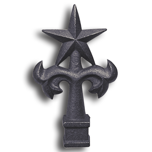 Cast Iron Star Top Finial