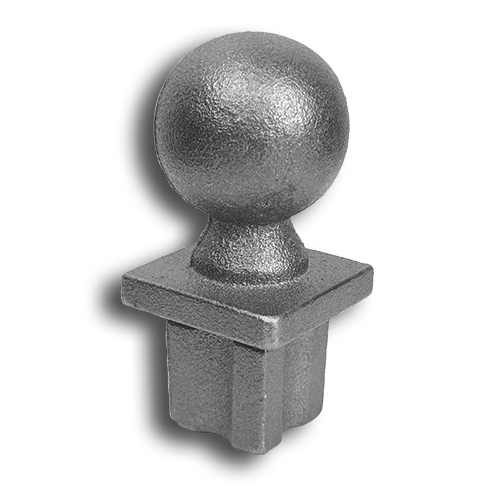 Cast iron ball top finial