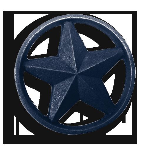 Cast Iron Circle Star