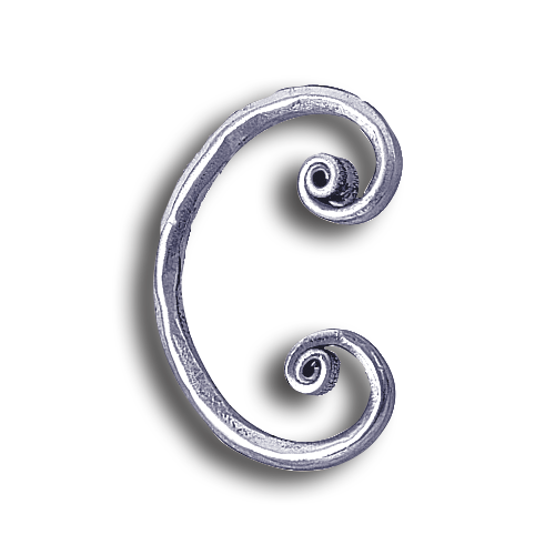 Forged Steel Bar : Forged steel round bar hammered scroll