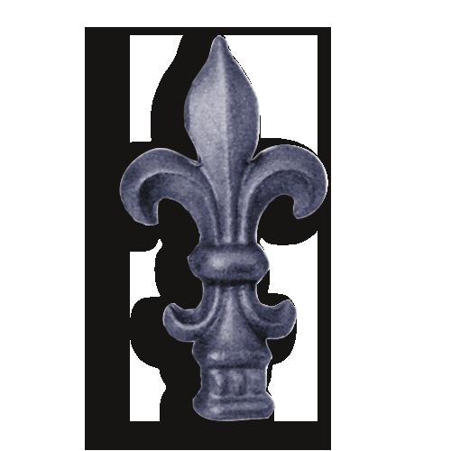 Hot Stamped Steel Fleur De Lis Finial