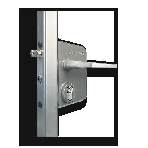 locinox industrial swing gate lock black