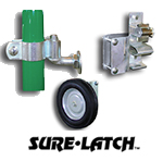 Sure Latch Hinges, Latches, and Wheels