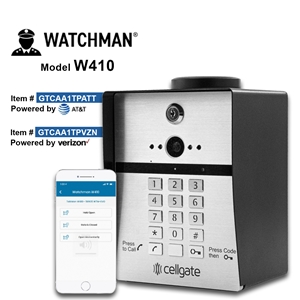 410 CELLULAR AT&T TELEPHONE ENTRY SYSTEM Watchman, cellgate, telephone entry system, video telephone, AT&T gate entry system, Verizon gate entry system