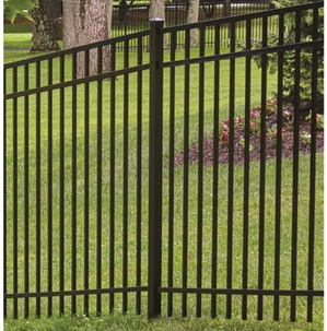 Aluminum 3-Rail Flat Top / Extended Bottom 4 FT x 6 FT Fencing System
