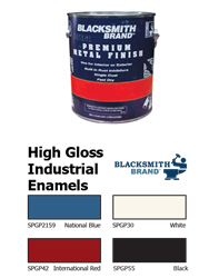 Blacksmith Brand High Gloss Industrial Enamels for Metal Semi-gloss paint, black satin finish, premium metal paint