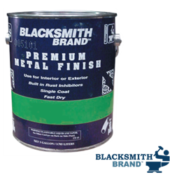 Blacksmith Brand Super Premium Metal Paint - Satin Finish Semi-gloss paint, black satin finish, premium metal paint