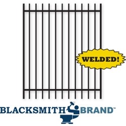 Welded Commercial Ornamental Black Extended Top Two Rail Walk Gate welded commercialornamental black extended top rail walk gate, weldable walk gates, walk gates, commercial fencing, ornamental walk gates, two rail walk gates, 2-rail fencing, extended pickets, extedned top fencing, weldable, gate hardware, fenicng hardware, galvanized posts, powder-coated, ts distibutors