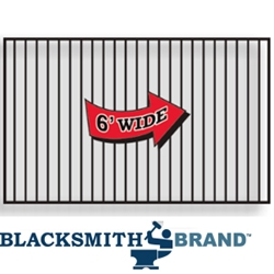 Welded Commercial Ornamental Black Flat Top Two Rail Drive Gates welded commercial ornamental black flat top two rail drive gates, drive gares, ornamental drive gates, commercial gates, flat top fencing, weldable drive gates, weldable gates, 2-rail panels, galvanized gates, powder-coated, blacksmith brand, 16-gauge, weldable walk gates, walk gates, ts distributors