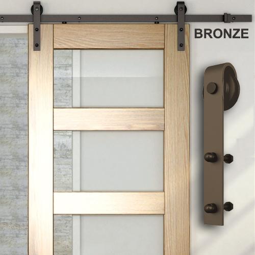Ts Distributors Powder Coated Barn Door Hardware Kit