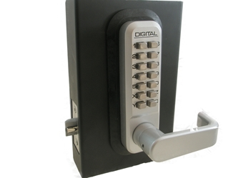 Lockey Mechanical Latch Code Lock Lockey Mechanical Latch Code Lock, Lockey door lock, keyless lock, best keyless lock, mechanical code lock, lockey, architectural metals, controlled door access, mechanical single side keypad lock, keypad lock