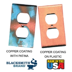 Blacksmith Brand Copper Metallic Coating blacksmith brand, gravity feed HVLP spray gun, Aervoe, heat resistant enamel, spra-tool, metallic finishes, brite galvanized coating, wrought iron, touch up brushes, painters masking tape, paint respirator kit, paint mitt, pipe painter, welding respirator, patina oxidizer, gun metal blue paint, rust arrest, brass coating, acrylic sealer, shop coat primers, paint for galvanized metal, paint for galvanized aluminum, rust inhibitive primer