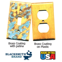 Blacksmith Brand Brass Metallic Coating blacksmith brand, gravity feed HVLP spray gun, Aervoe, heat resistant enamel, spra-tool, metallic finishes, brite galvanized coating, wrought iron, touch up brushes, painters masking tape, paint respirator kit, paint mitt, pipe painter, welding respirator, patina oxidizer, gun metal blue paint, rust arrest, brass coating, acrylic sealer, shop coat primers, paint for galvanized metal, paint for galvanized aluminum, rust inhibitive primer