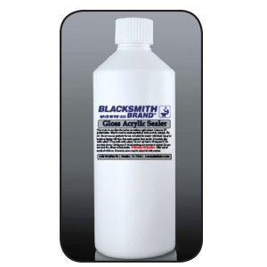 Blacksmith Brand Gloss Acrylic Sealer blacksmith brand, gravity feed HVLP spray gun, Aervoe, heat resistant enamel, spra-tool, metallic finishes, brite galvanized coating, wrought iron, touch up brushes, painters masking tape, paint respirator kit, paint mitt, pipe painter, welding respirator, patina oxidizer, gun metal blue paint, rust arrest, brass coating, acrylic sealer, shop coat primers, paint for galvanized metal, paint for galvanized aluminum, rust inhibitive primer