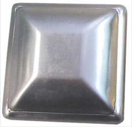 Pressed Steel Square Post Cap pressed steel square post cap, pressed steel, steel post cap, steel finial, fence accessories, metal post cap, square post cap, ts distributors