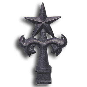 Cast Iron Star Top Finial cast iron star top finial, finials, metal finials, cast iron finials, star top finials, decorative finials, metal fence posts, fence posts, designmaster, cast iron finials for sale, fence finials, decorative cast iron finials, fence accessories, cast iron fence accessories, ts distributors