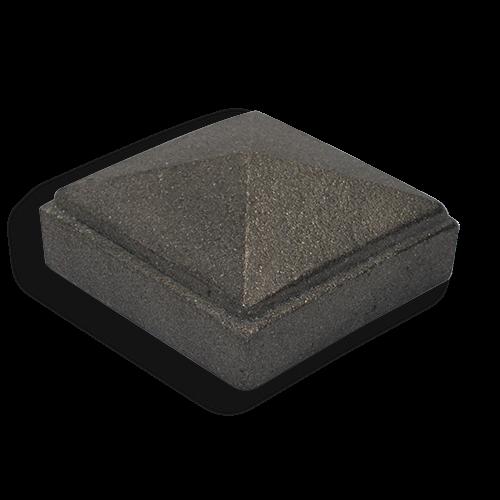Cast iron square newel post caps
