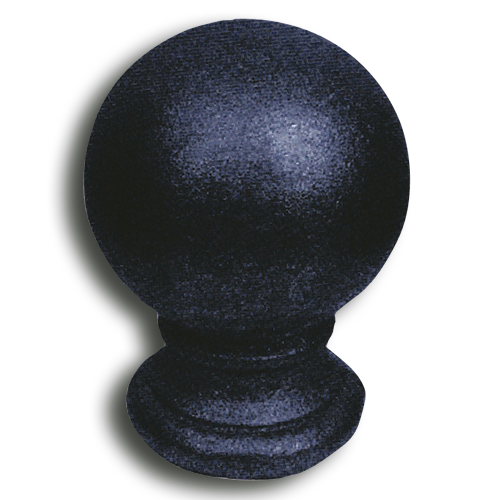 Cast iron ball post cap