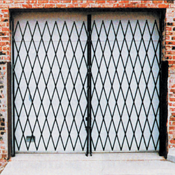 Double Expanding Security Gate expanding gate, security gate, prefab gate, entrance gate, storefront gate, expanding metal gate, accordion gate