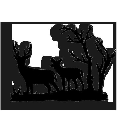 Plasma Cut Design Deer Scene