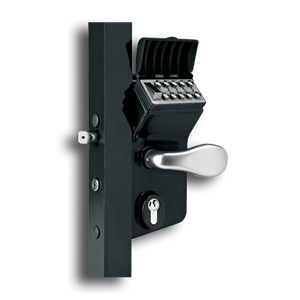 Locinox Mechanical Code Lock for Swing Gates mechanical code lock, swing gate lock, entry code lock, polyamide