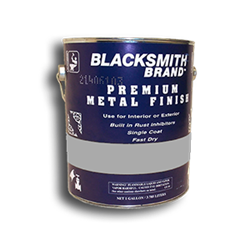 Blacksmith Brand Shop Coat Primer blacksmith brand, gravity feed HVLP spray gun, Aervoe, heat resistant enamel, spra-tool, metallic finishes, brite galvanized coating, wrought iron, touch up brushes, painters masking tape, paint respirator kit, paint mitt, pipe painter, welding respirator, patina oxidizer, gun metal blue paint, rust arrest, brass coating, acrylic sealer, shop coat primers, paint for galvanized metal, paint for galvanized aluminum, rust inhibitive primer