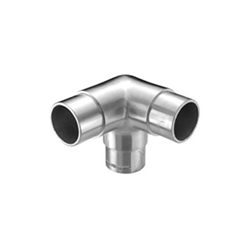 Inox Three-Way Corner Hard Bend Elbow stainless steel, tubing system, three-way, hard corner elbow