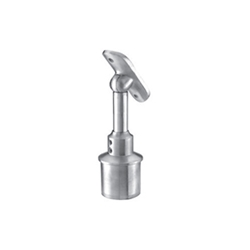 Inox Adjustable Height Post Top Handrail Support - Adjustable 180° Pivot post top support, adjustable height, stainless post and wall handrail supports
