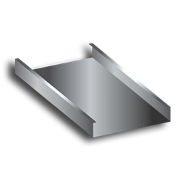 Stock Steel Pan Type closed riser, concrete steps, custom fabricated steps, stair stringers, diamond