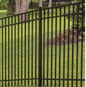 Aluminum 3-Rail Flat Top / Extended Bottom 5 FT X 6 FT Fencing System