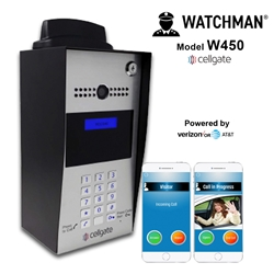450 EVO AT&T Live Streaming Video Telephone Entry System Watchman, cellgate, telephone entry system, video telephone, AT&T gate entry system, Verizon gate entry system, dual sim