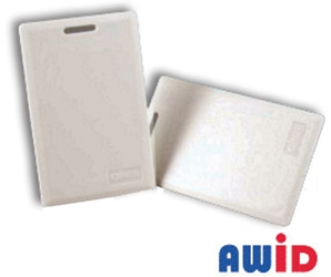 Clamshell Proximity Card clamshell card, short range reader, AWID, Doorking, proximity card, card entry