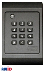 KP-6840 Card Reader AWID, DOORKING, WIEGAND PROXIMITY READER, READER WITH KEYPAD, KP-6840, PROGRAMMABLE CARD READER